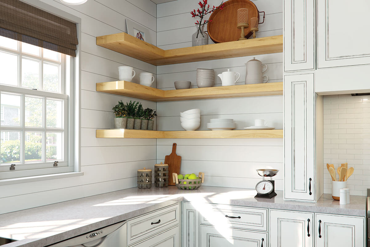 white cherry cabinets